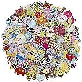 HONGXIN-SHOP Bottoni Colorati Decorativi in Legno Bottoni Animaliper Cucito e Lavorazione per Il Mestiere di Cucito Scrapbook