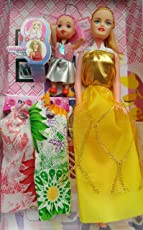 Oasis Enterprises Beautiful Charm Girl Princes Doll Toys (Yellow)