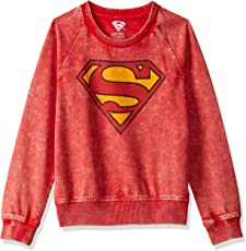Superman Kids Boys Scarlet Red Color Sweatshirt