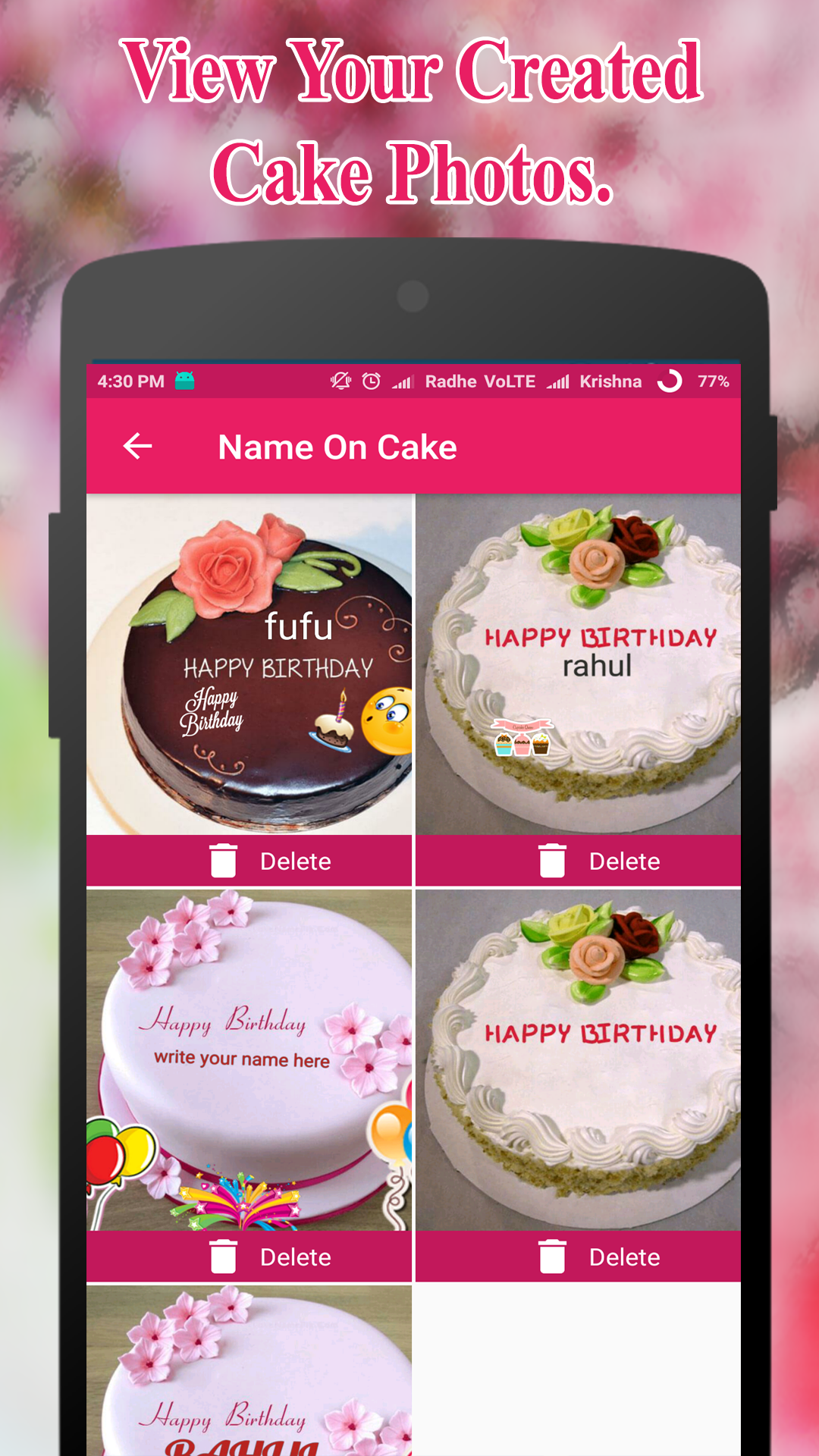 Remarkable Name On Birthday Cake Offline Amazon Co Uk Appstore For Android Birthday Cards Printable Nowaargucafe Filternl