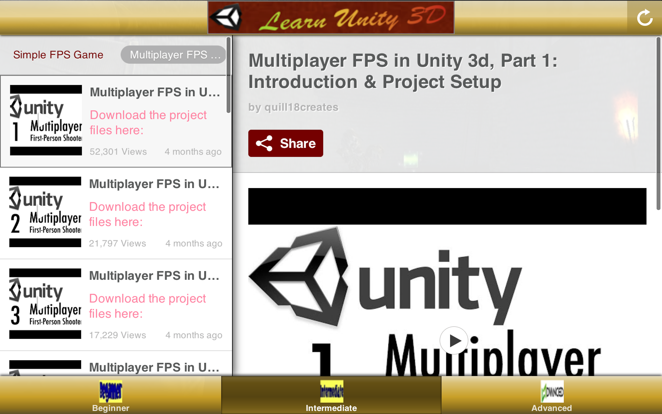 Game Development Tutorial - Unity