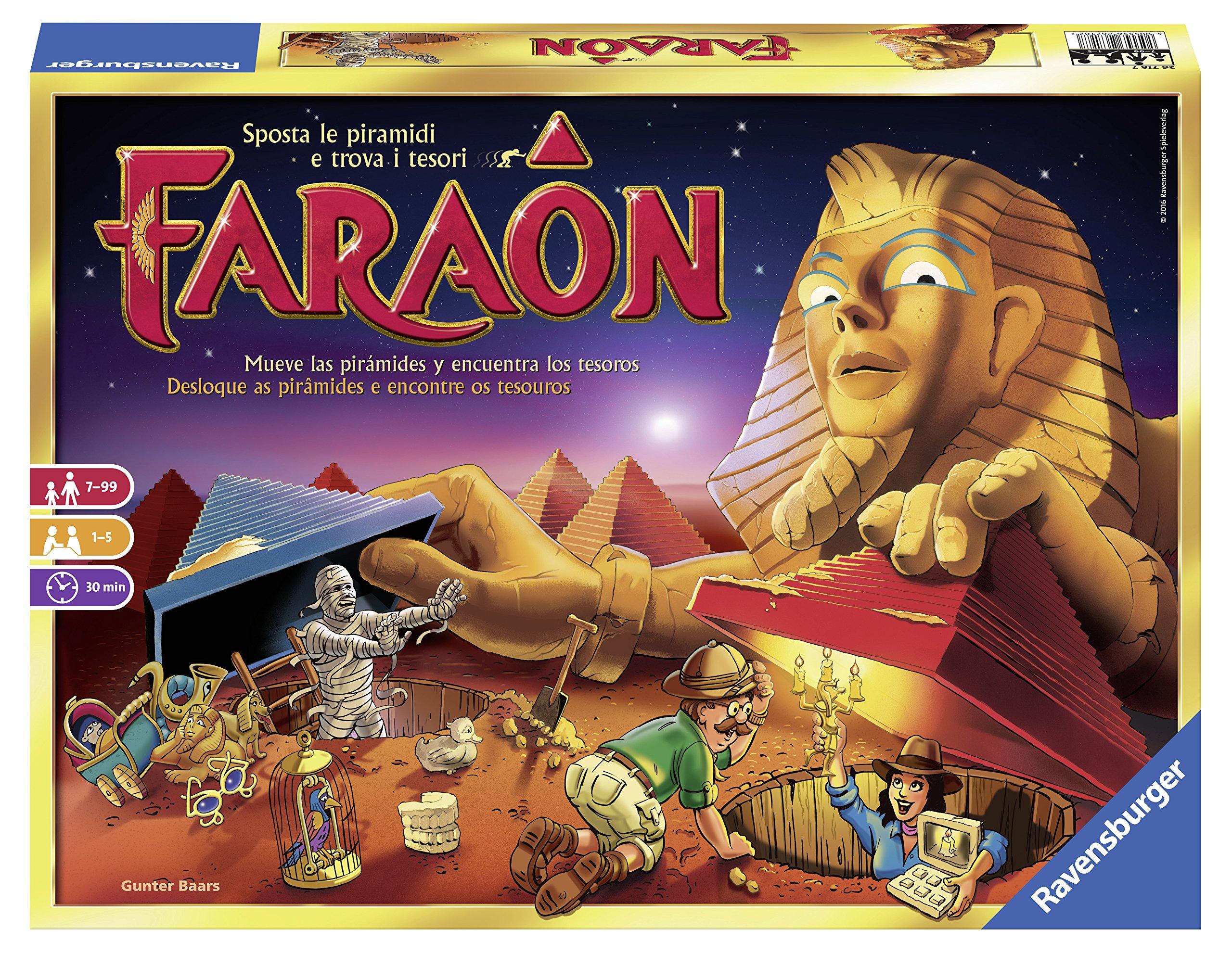 Ravensburger 26718 Faraon, Gioco da Tavolo, per 1-5 Giocatori, età Consigliata 7+ 3 spesavip