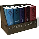 George R. R. Martin's A Game of Thrones Leather-Cloth Boxed Set (Song of Ice and Fire Series): A Game of Thrones, A Clash of Kings, A Storm of Swords, ... A Dance With Dragons (A Song of Ice and Fire)