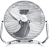 Brandson - Windmachine retro stijl 160 watt - ventilator in chroom - staande ventilator 50 cm - vloerventilator - hoge luchtv