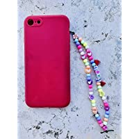 """Phone strap perline charm""""Love"""", personalizzato con lettere e nome. Porta cellulare da polso e gioiello per il tuo…"""