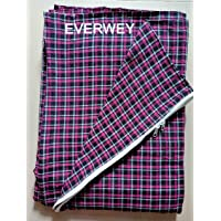 Everwey Enterprise Cotton Mattress Cover for Single Bed - Multicolour 6ft.x3ft. ( 72 inch x 36 inch)