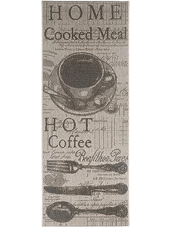Pflegeleichter teppich  benuta Küchenläufer Coffee Grau 80x200 cm | Pflegeleichter Teppich ...