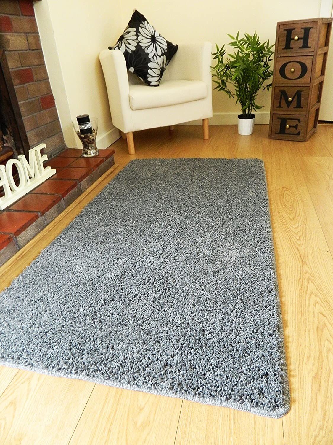 rug 80 x 150. grey machine washable thick soft shaggy rug. available in 4 sizes. (100cm diameter (circle)): amazon.co.uk: kitchen \u0026 home rug 80 x 150