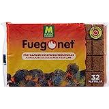 Massó Fuegonet Eco-aanmaakblokjes voor barbecue en open haarden, per stuk verpakt (1 x 32 stuks)