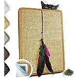 VALKYRA - Krabpaal voor katten, zelfklevend, matten van sisal voor horizontale en verticale oppervlakken, spel van veren en k