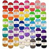 Mira Handcrafts 40 verschillende kleuren acryl garenstrengen met 7 e-boeken - perfect voor elk mini brei- en haakproject