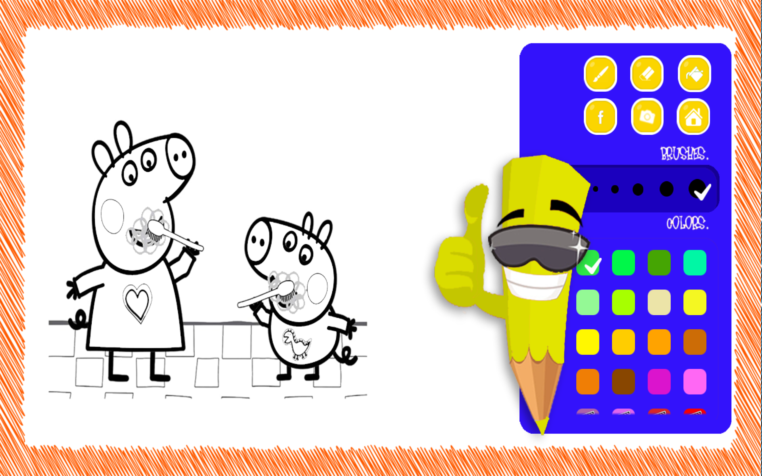 - Pink Pig Coloring Book Games For Kids: Amazon.co.uk: Appstore For