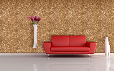 BDPP Imported Vinyl Coated Metallic Washable Wallpaper-W8021(Covers Approximately 50 Square. Feet.)