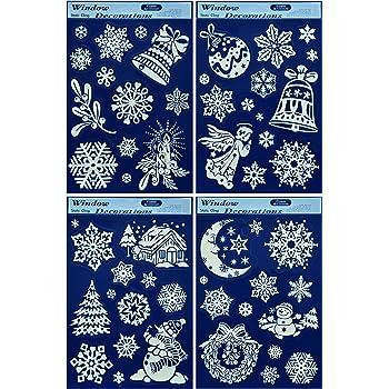 50 weihnachtliche winterliche fensterbilder weihnachtsdeko fensterdekoration - Amazon weihnachtsdeko ...