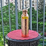 Angelic Copper Hammered Water Bottle, 1 Litre, Brown