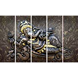 Kyara arts Multiple Frames, Beautiful Religious Ganesha Wall Painting for Living Room, Bedroom, Office, Hotels, Drawing Room