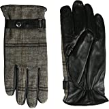 GGI Men's Tweed Leather Touchscreen Gloves Cold Weather