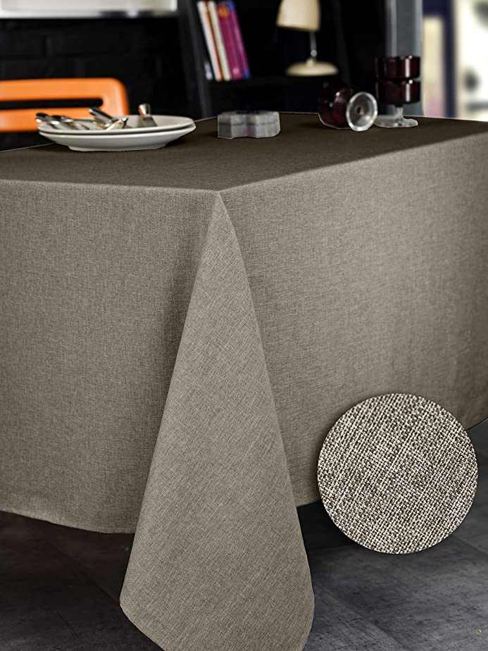 Calitex BROME Nappe rectangulaire Polyester Taupe 150x350: Amazon ...