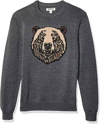 Goodthreads Men's Soft Cotton Striped Crewneck Sweater