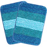 Saral Home Turquoise Soft Microfiber Anti-Skid Bath Mat (Pack of 2, 35x50 cm)