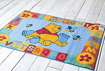 Official Disney Educational Alphabet 95cm X 133cm Playmats Rug   Winnie The  Pooh ABC Blue