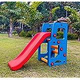 BabyGo Tokio School Bus Toy Slide Foldable Garden Slide for Kids with Adjustable Height