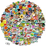 عبوة ملصقات مكونة من 200 قطعة (50-500 قطعة في العبوة)، ملصقات ملونة مقاومة للماء للقارورة، اللاب توب، والهاتف، وزجاجة المياه،