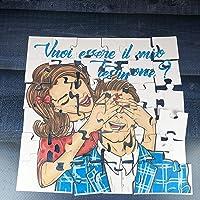 Vuoi essere il mio testimone? Puzzle per testimone maschio della sposa per nozze, matrimonio, personalizzato, disegno a…