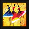 Story@Home Synthetic Wood Framed Beautiful Design 'Dancing Women' Modern Wall Art Painting for Decorating Living Room, Bedroo