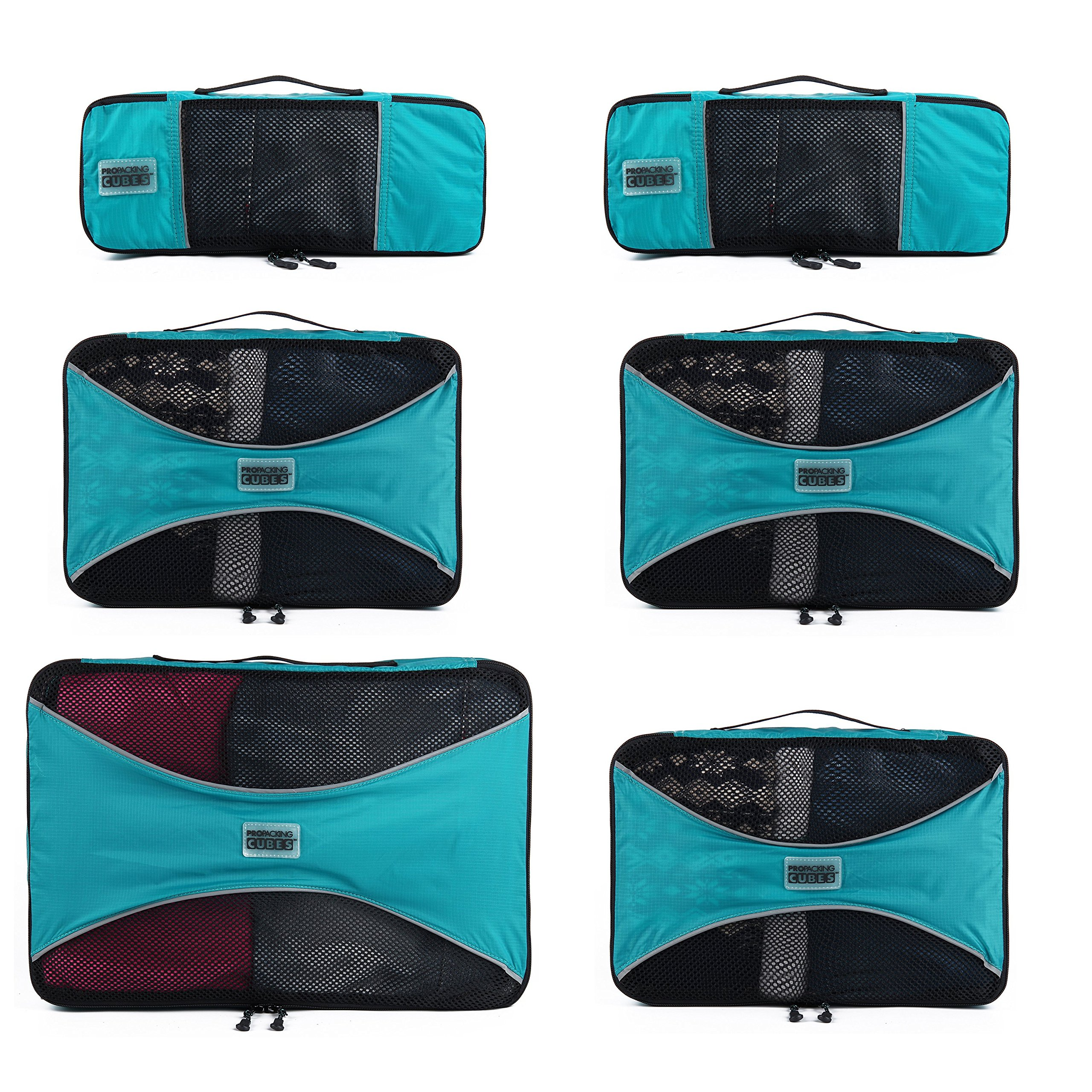 e75c334b6157 PRO Packing Cubes for Travel - Luggage Organizer Bags, Accessories -  Ultralight - My Travel Luggage