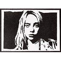 Poster Billie Eilish Handmade Graffiti Street Art - Artwork
