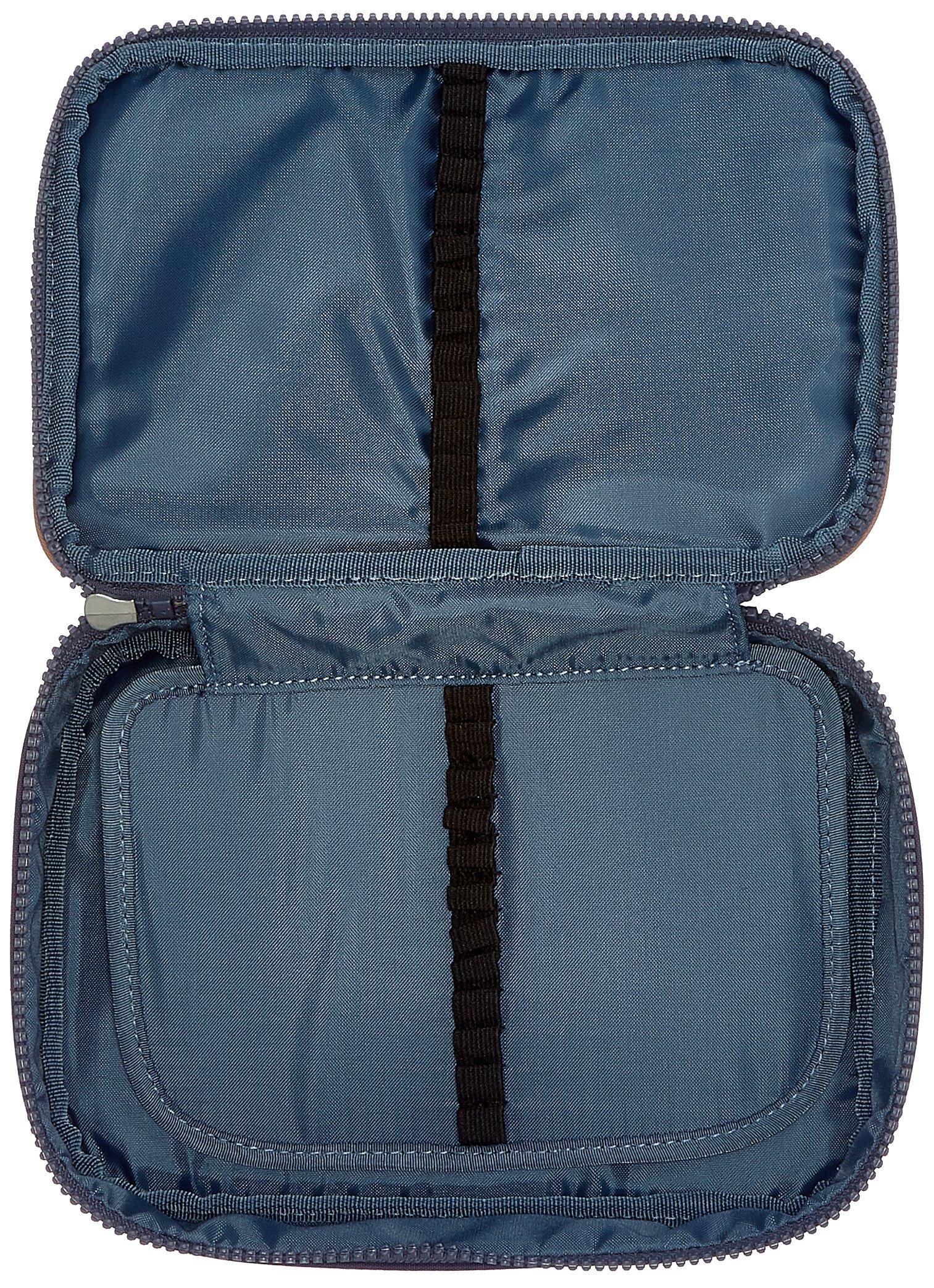 Kipling 100 Pens Estuche Grande, Azul (Blue Tan Block)