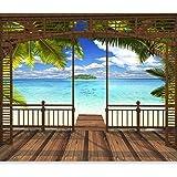 plage Lever du soleil NEUF Taille 350 x 256 cm 3d Design Papier peint toile