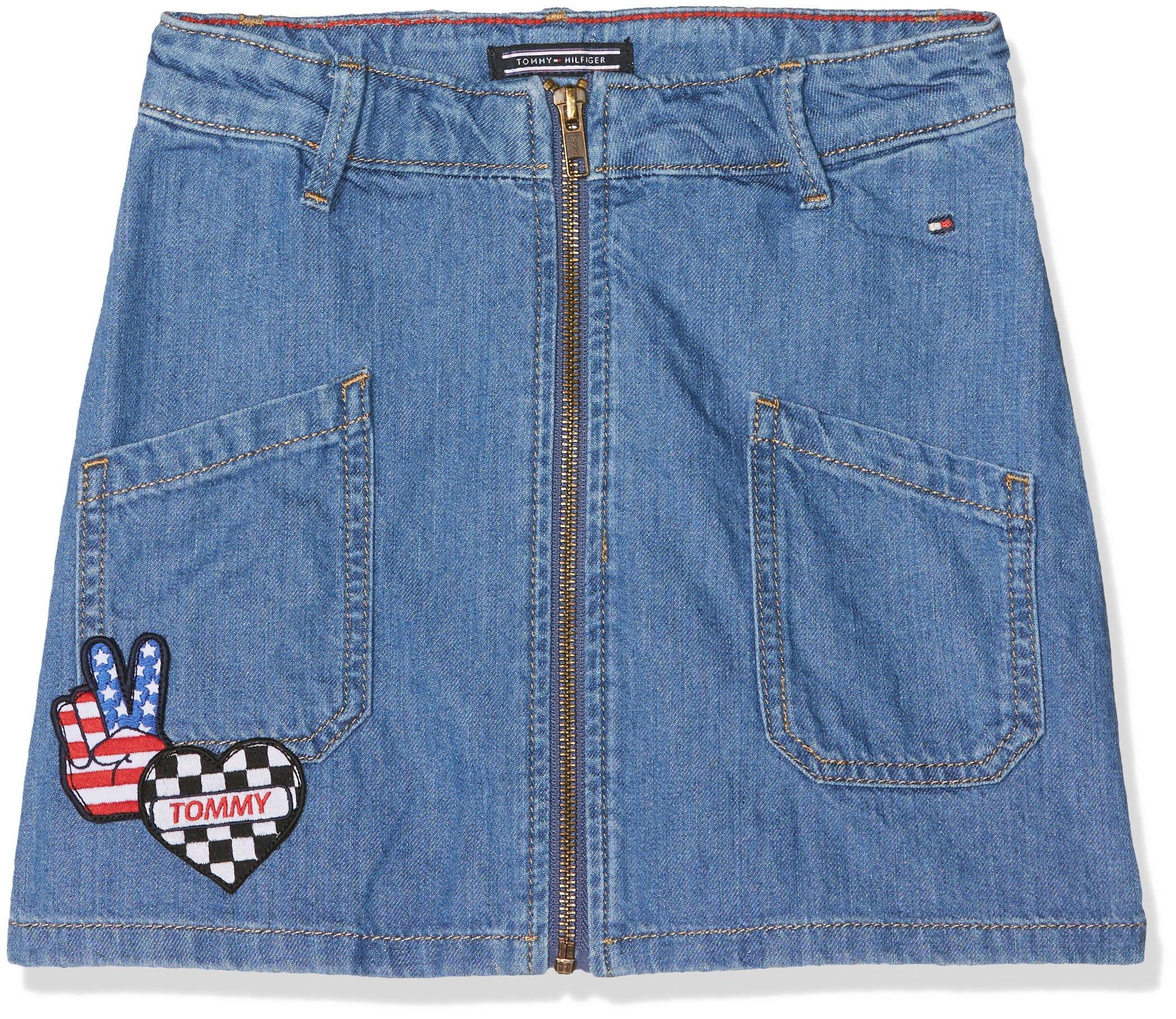 Tommy Hilfiger A Line Badge Skirt Kembr Falda para Niñas