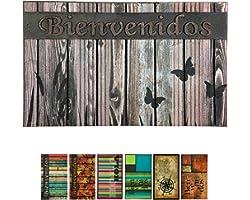 LucaHome - Felpudo Entrada casa de Goma-Flocada 40x70 cm Arizona Forma Base Antideslizante, Felpudo Premium, fácil Limpieza,