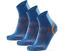 Calcetines Deportivos Quarter, para Hombre y Mujer, Calcetines Media Caña, Antideslizantes, Ajuste Cómodo y Transpirables par