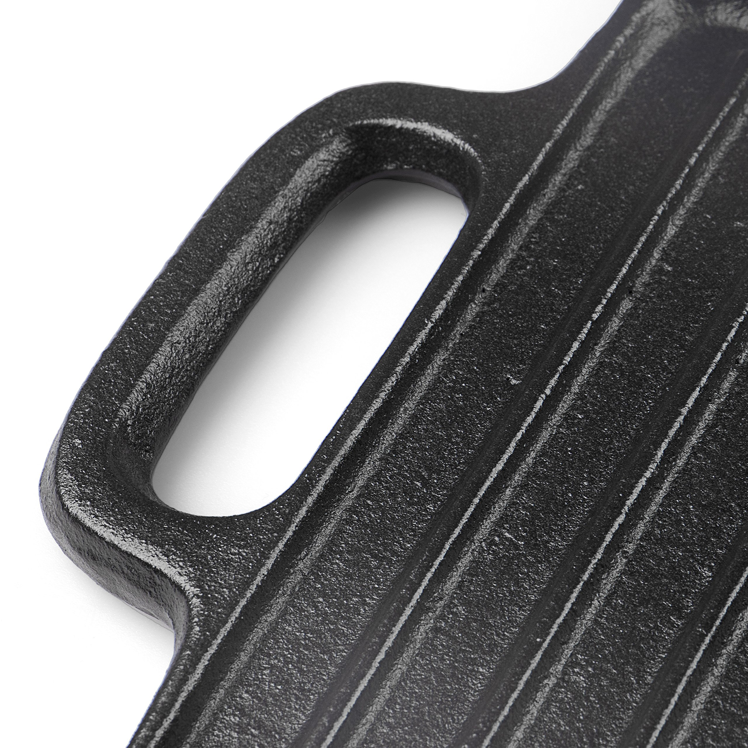 Rustler Gusseisen Grillplatte Mit 2 Griffen Und Emaille Beschichtung