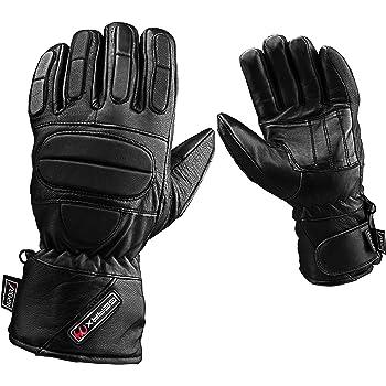 Handschuhe Motorradhandschuhe Wärmeisoliert Leder Wasserdicht Handschuhe Gr.10 Bekleidung