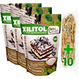 Xilitol 100% Natural 3Kg Azucar de Abedul de Finlandia + 10 sobres Regalo de Nuevo Edulcorante Moreno DULCILIGHT el sabor nat