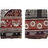 Mandhania Solance Solapuri Chaddar Authentic Designed 100% Cotton Dailyuse Single Bed Blanket Pack of 2