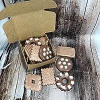 Scatolina con 5 tart al cappuccino e cacao per bruciaessenze o profumatori in cera di soia e olio essenziale piccoli…