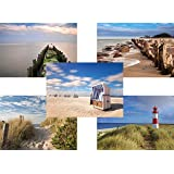 20 Nord- und Ostseepostkarten im Set, 5 Motive mit jeweils 4 Postkarten, Nordseepostkarten, Ostseekarten