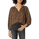 Marca Amazon - Goodthreads Fluid Twill Volume-sleeve Poet Shirt - dress-shirts Mujer