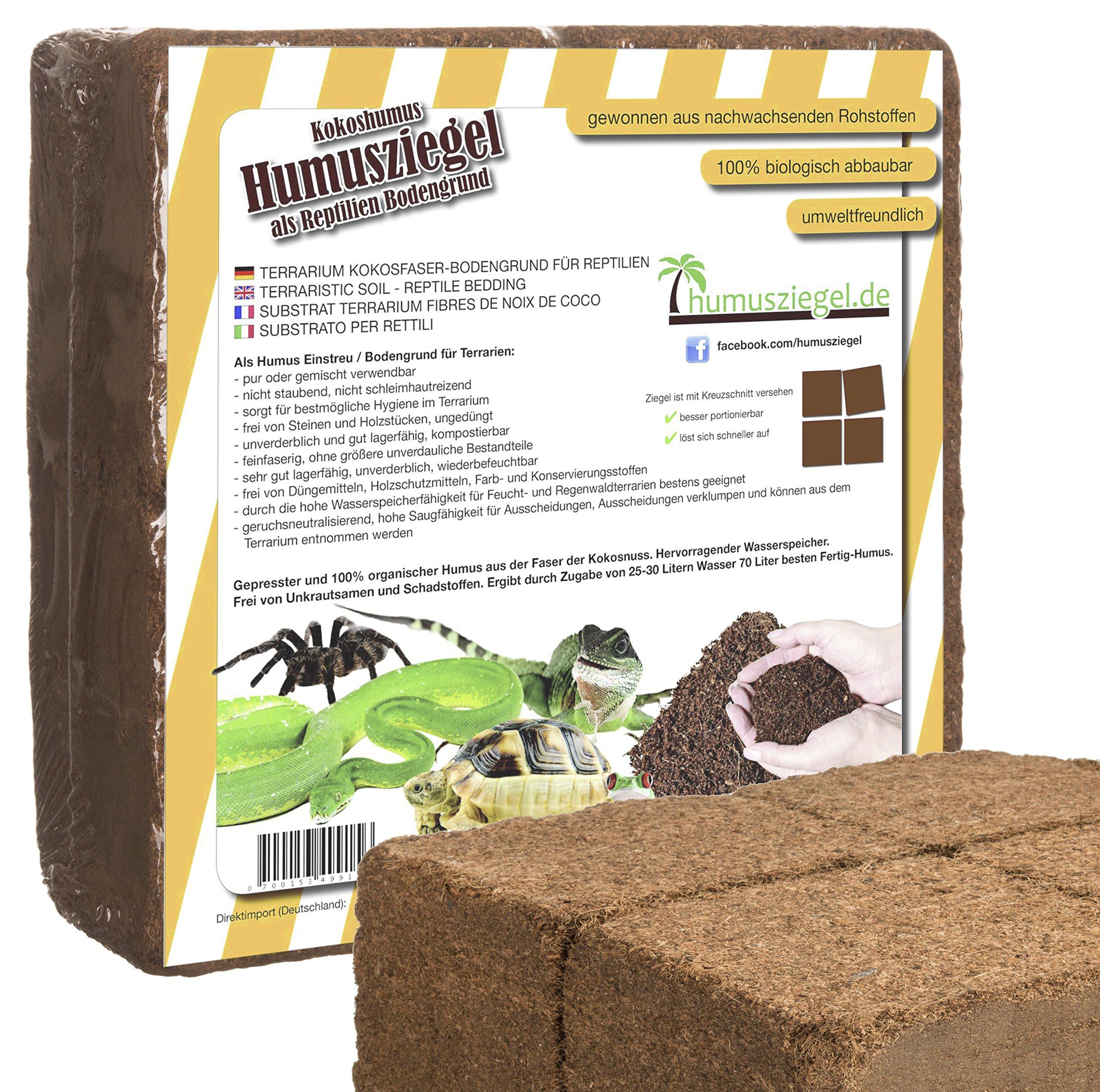 70 L Kokoseinstreu Bodengrund Terrarienerde für Reptilien ...