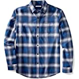 Amazon Essentials Camisa de Franela de Manga Larga de Ajuste Regular. Camisa Hombre