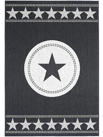 Pflegeleichter teppich  benuta In- & Outdoor Teppich Essenza Star Schwarz 160x230 cm ...