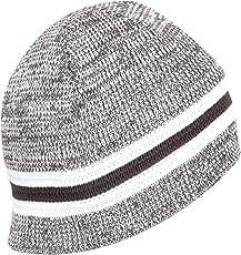 FabSeasons WC84 Acrylic Winter Skull Cap, Free Size (Grey/White)