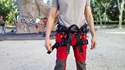 Suntime Arneses Escalada en Roca Cinturón de Seguridad Amplia al Aire Libre de Rappel Arnés Ajustable de Rescate del Asiento Sentado Profesional ...
