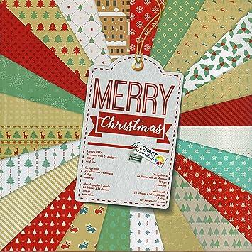 Bastelpapier Vintage scrapbooking papier vintage motivblock 25 weihnachten