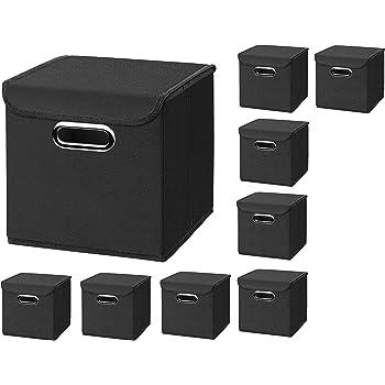 3x Hellgrau Faltbox ohne Deckel Box Regalbox Aufbewahrungsbox Stoffbox faltbar